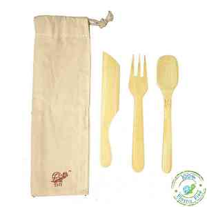 Reusable Bamboo Cutlery Kit