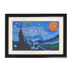 Upcycled Plastic Art The Starry Night