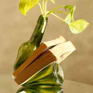 Upcycled Glass Bottle Multipurpose Holder