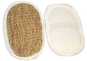 Natural Vetiver Bath Scrubber Sponge Pad