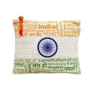 Upcycled Tricolour Pouch