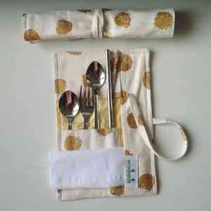 Reusable Steel Cutlery Pouch