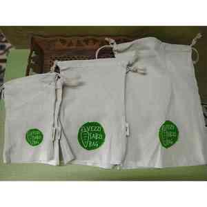 Cotton Veggie Storage Pouches Combo