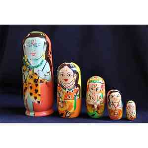 Wooden Stacking Dolls Created by Rural Artisans - Shiva