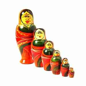 Wooden Stacking Dolls Created by Rural Artisans - Female