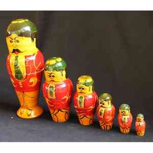 Wooden Stacking Dolls Created by Rural Artisans - Male