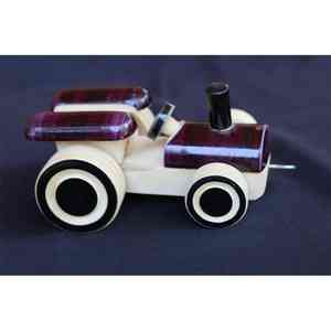 Wooden Pull Along Tractor Toy Created by Rural Artisans