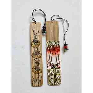 Handpainted Bamboo Bookmarks