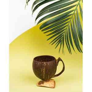 Upcycled Coconut Shell Tea Cup