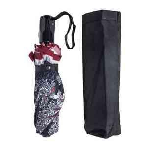 Black Ikkat Three Fold Umbrella