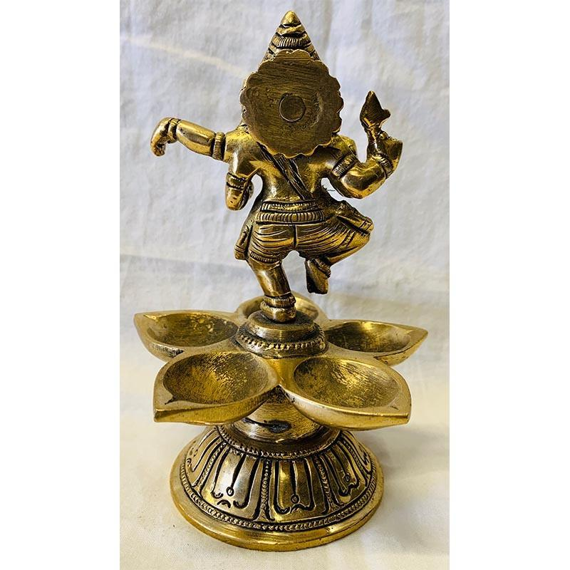 Dancing Ganesh Brass Lamp