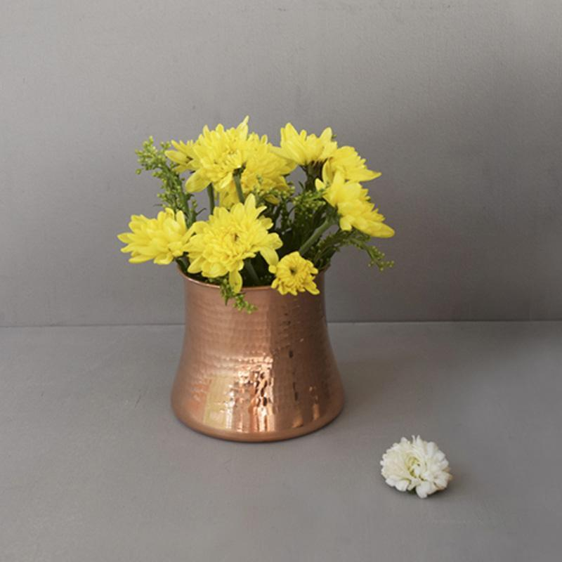 Handcrafted Copper Rosa Vase