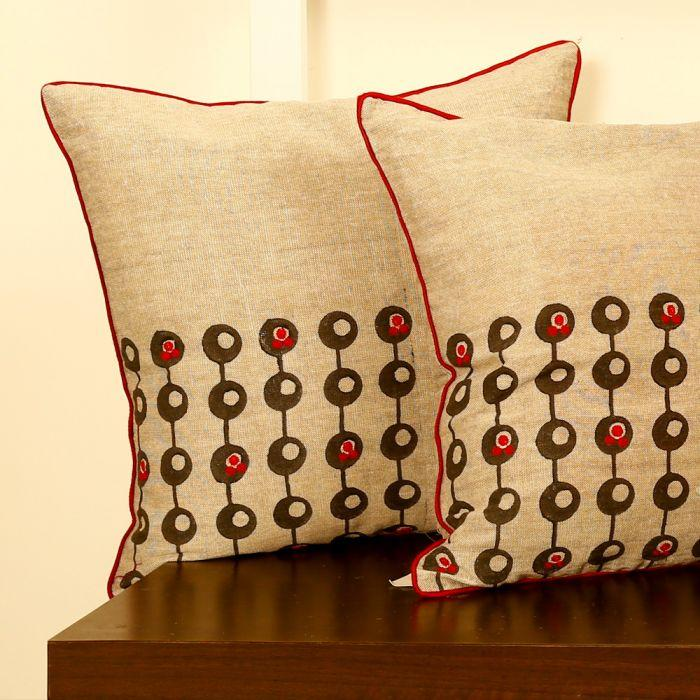 Pop Masters Linen Cushion Cover
