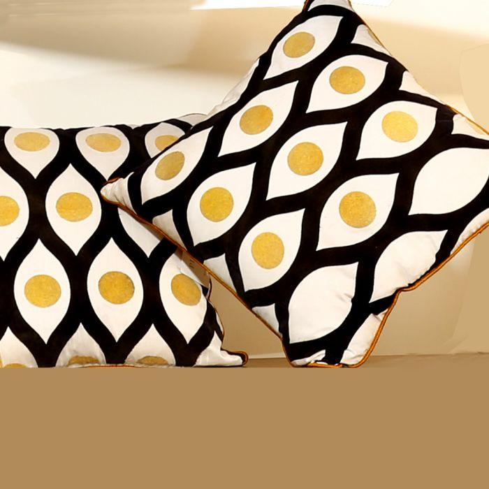 Modern Classic Cotton Silk Cushion Cover