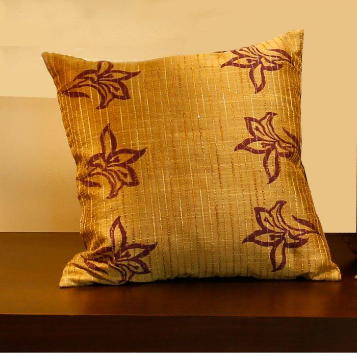 Jacquard Earthen Cushion Cover