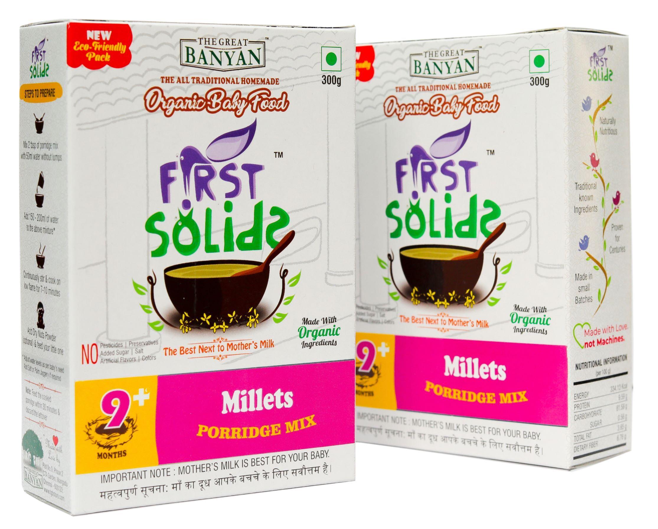 First Solids Organic Baby Millet Porridge
