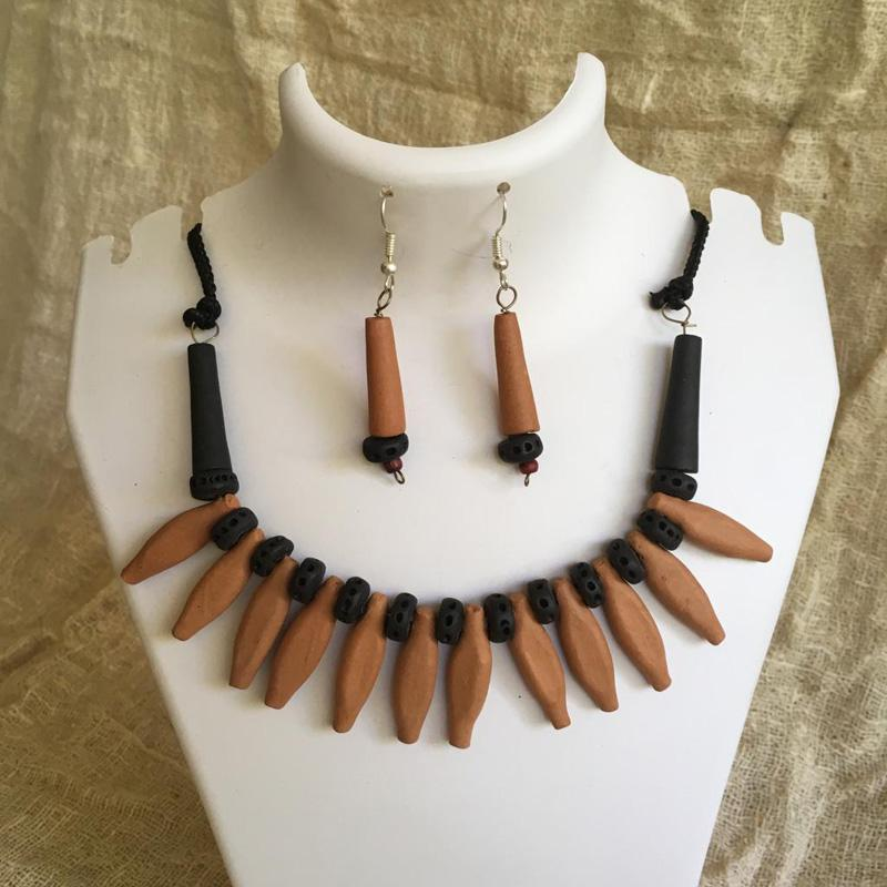 Handmade Terracotta Jewellery Set
