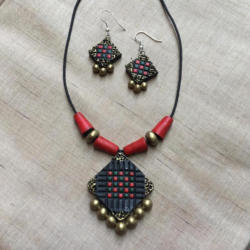 Handmade Terracotta Jewellery Set