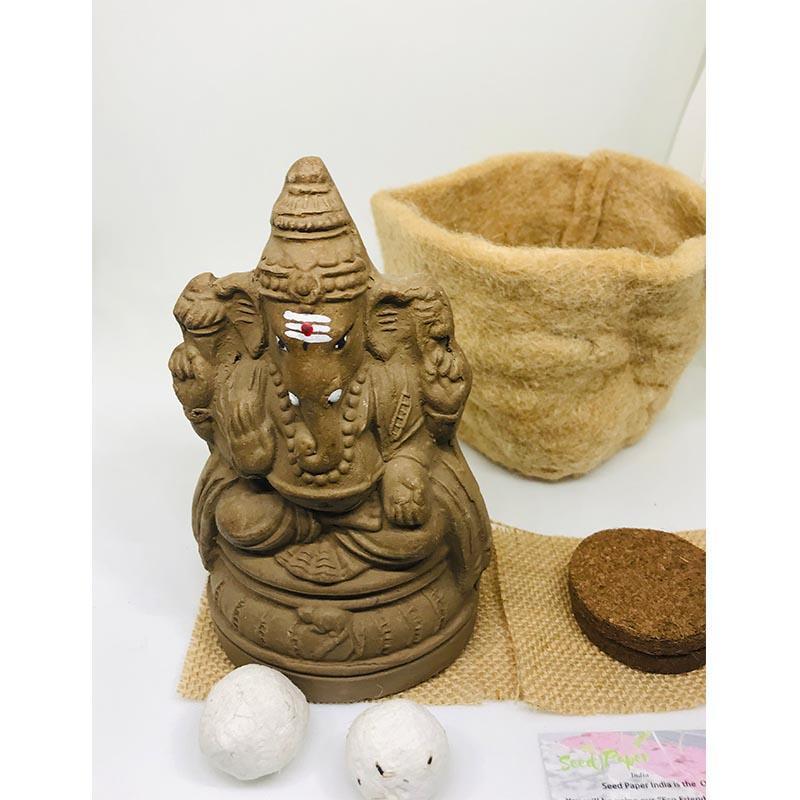 Clay Ganesha Kit with Seeds