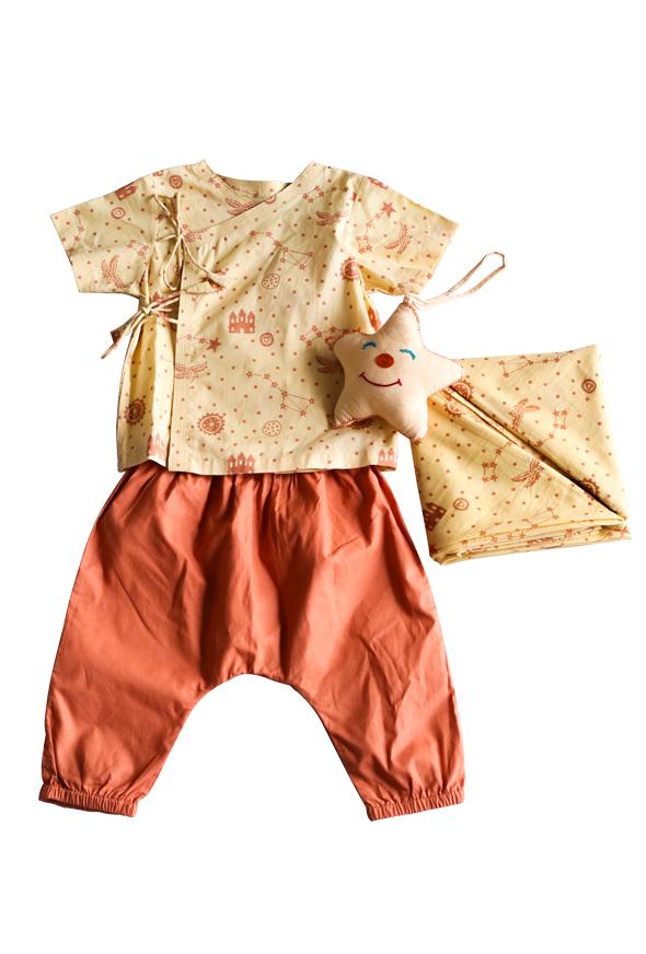 3 Piece Dhruvtara Print Baby Gift Set