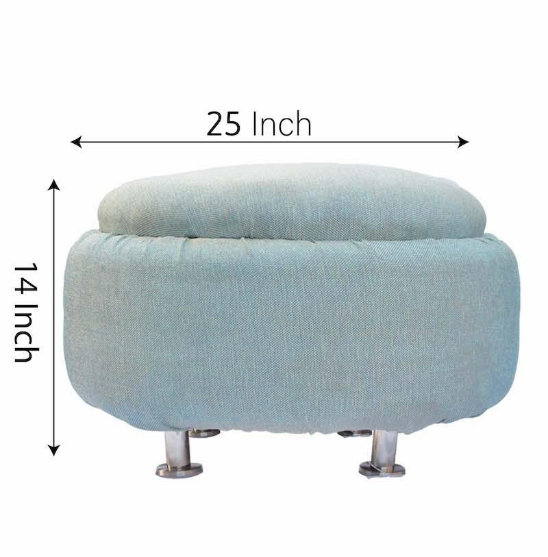 Upcycled Tyre Light Blue Backless Sofa