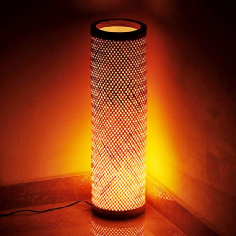 Bamboo Standing Lamp Handcrafted in Assam