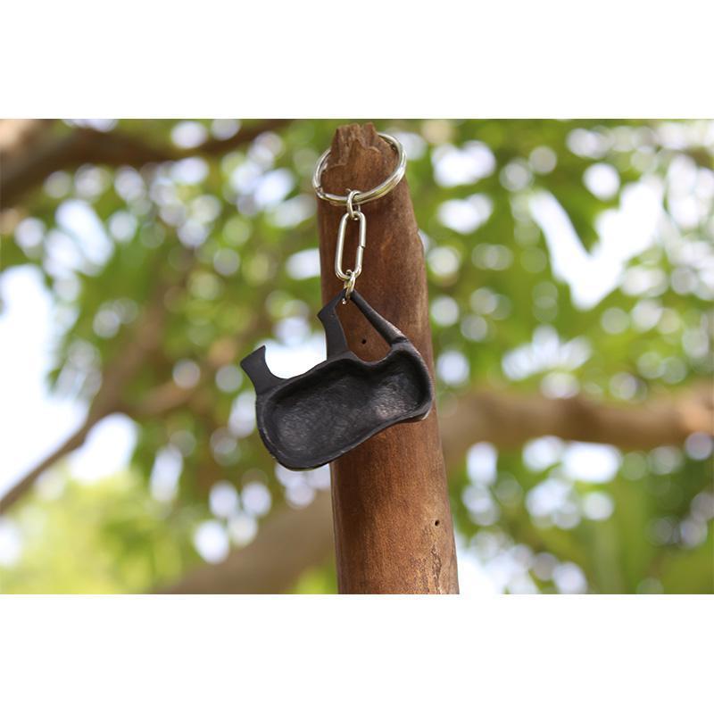 Bidri Elephant Keychain