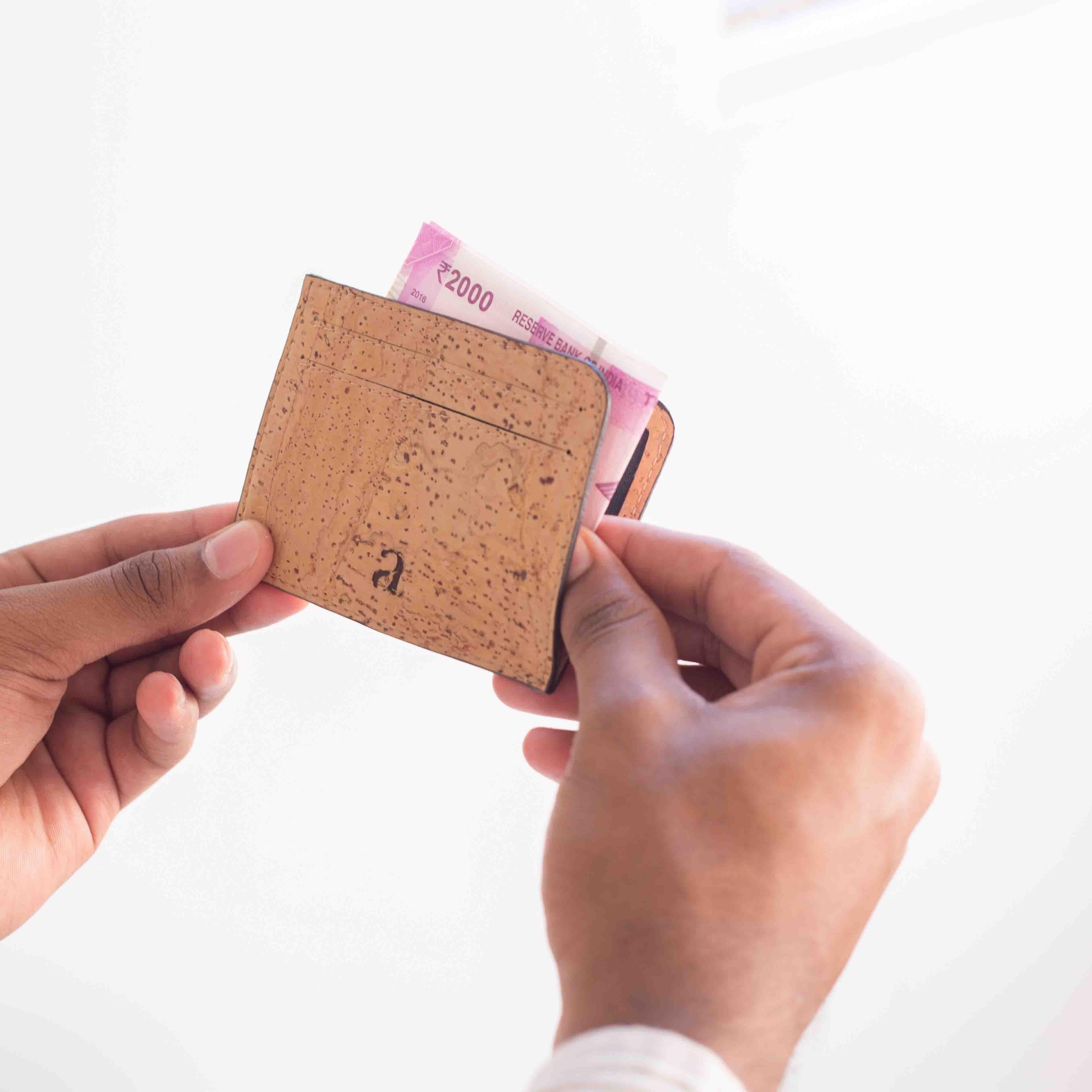 Cruelty Free Cork Fibre Card Case