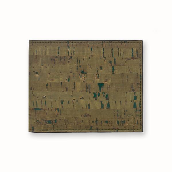 Cork Fabric Men Coin Wallet