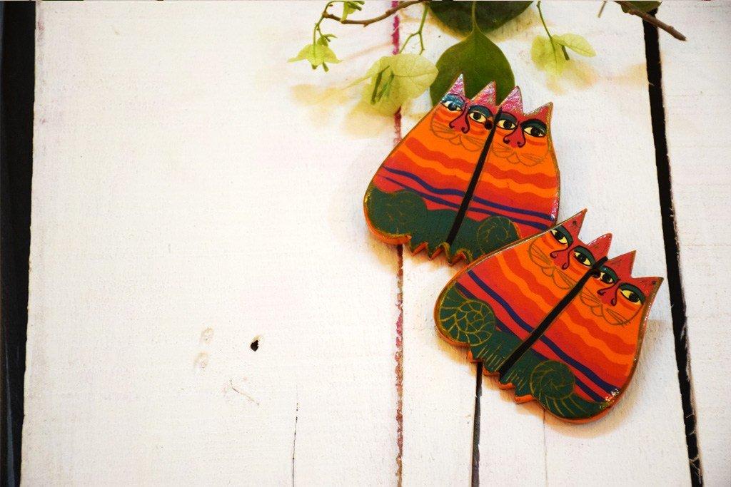 Hand Painted Chatori Billi Earrings