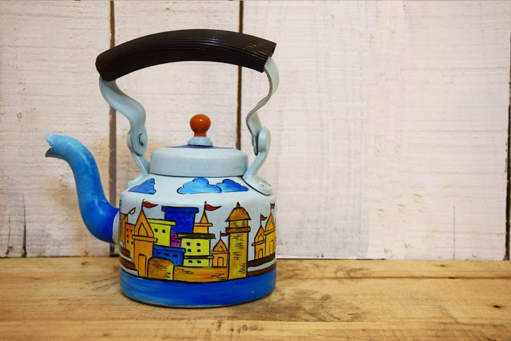 Hand Painted Apna Ghar Ghat Kettle