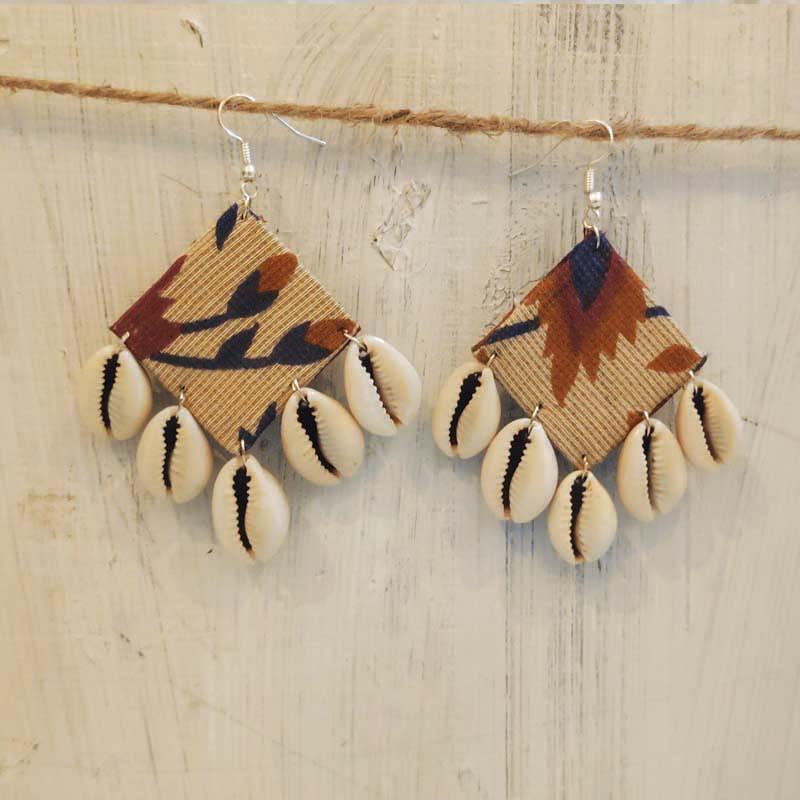 Handcrafted Flower Kodi Earrings