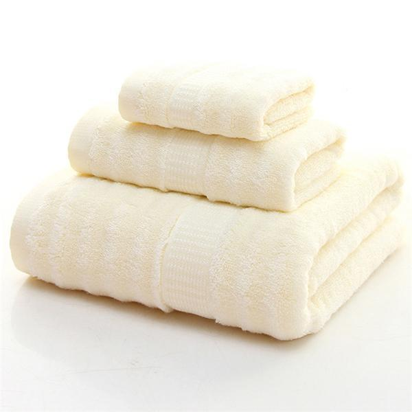 Bamboo Cream Towel Set