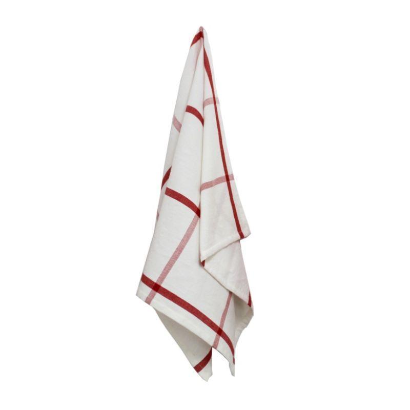 Handwoven Plaid Kitchen Towel
