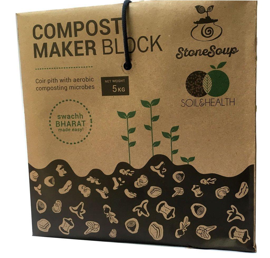 Compost Maker Coir Block for Aerobic Home Composting