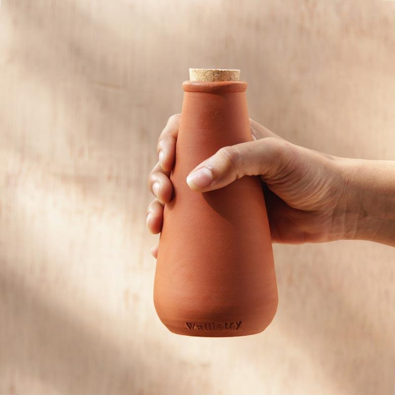 Handcrafted Clay Water Bottle