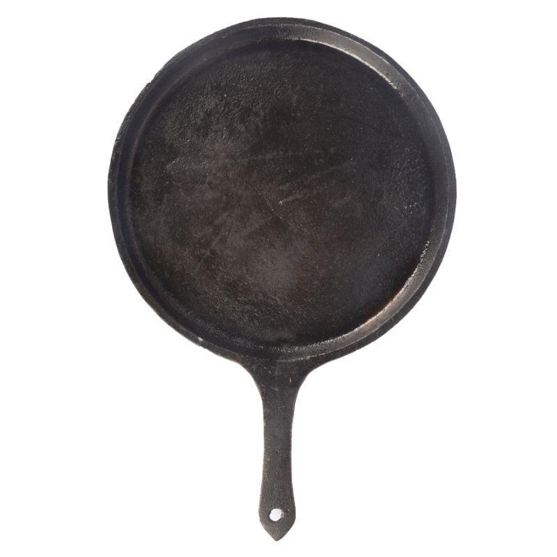 Seasoned Cast Iron Dosa Tawa with Handle