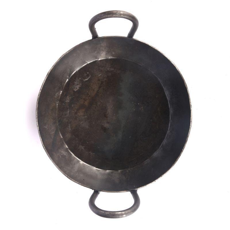 Seasoned Iron Flat Bottom Kadai