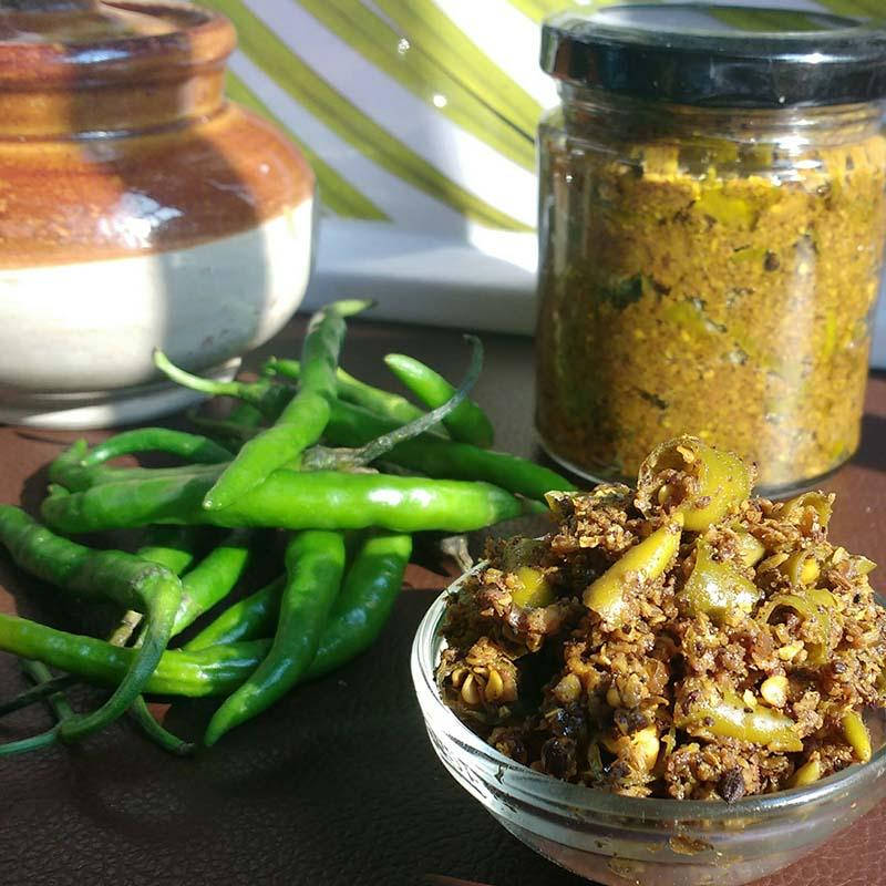All-Natural Green Chilli Pickle