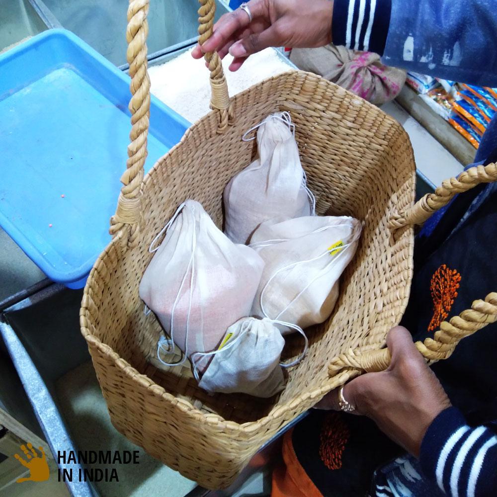Large Reusable Kora Vegetable Storage Bags