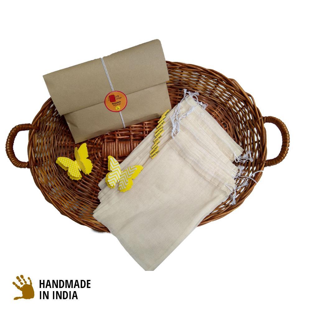 Assorted Reusable Kora Vegetable Storage Bags