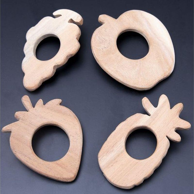 Wooden  Fruits Teethers
