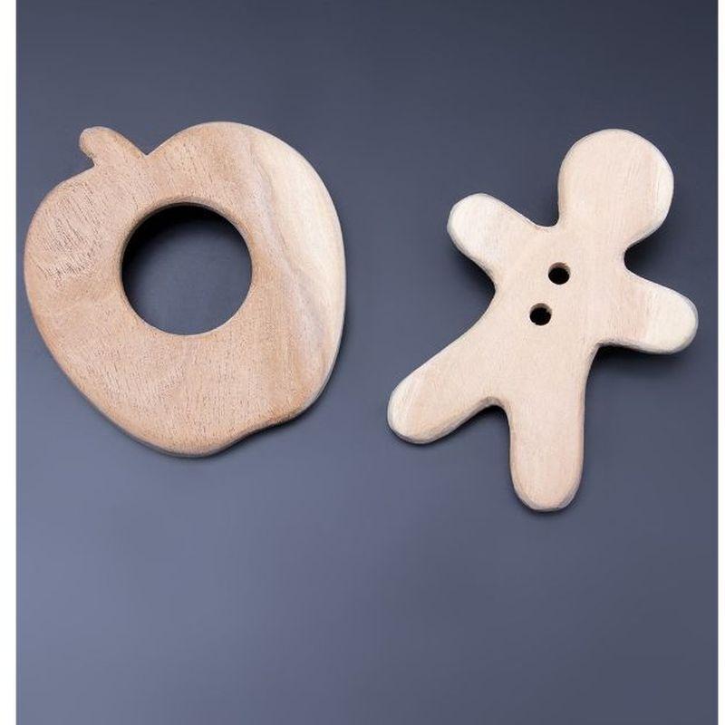 Apple & Gingerbread Man Teethers