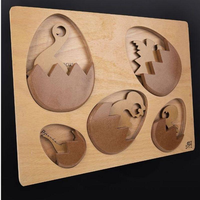 Wooden Block Dino Puzzle