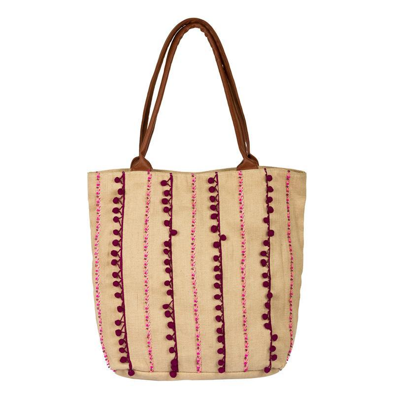 Ethnic Obsession Jute Large Tote Bag
