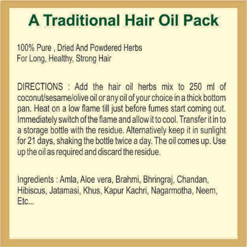 Herbal Powder for Hair Oil