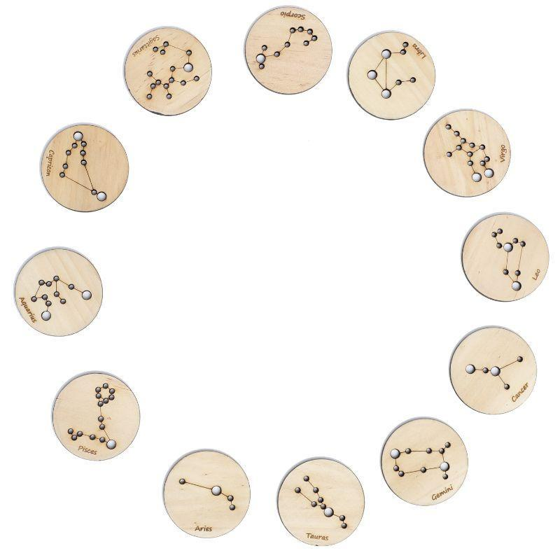 Wooden Constellation Coins