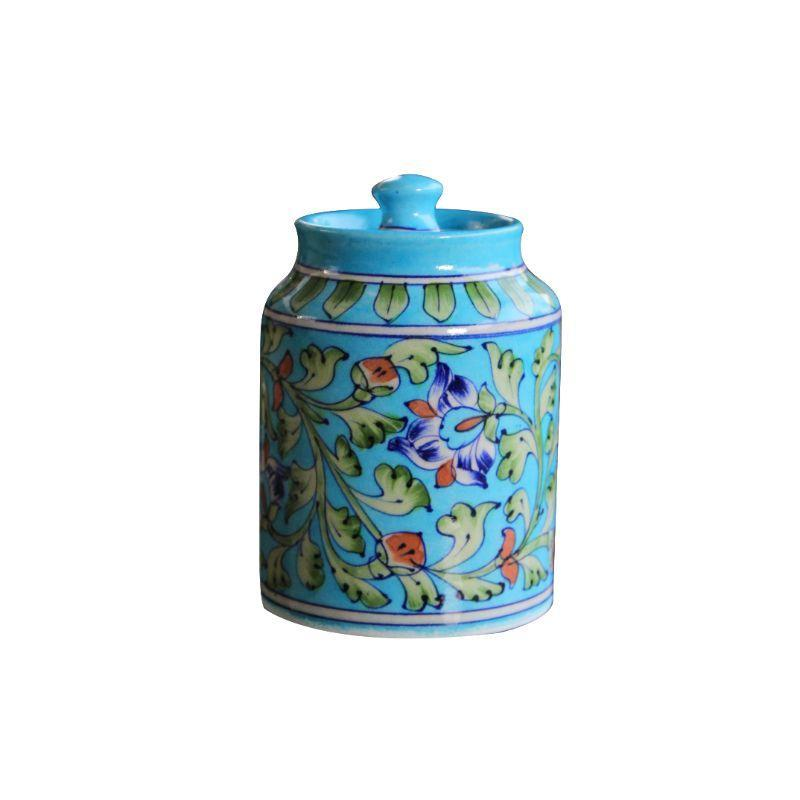 Turquoise Blue Pottery Jar