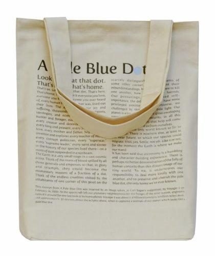 Cream Cotton Tote Pale Blue Dot Bag