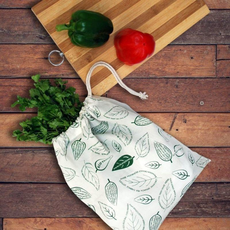 Cotton Grocery Storage Bags